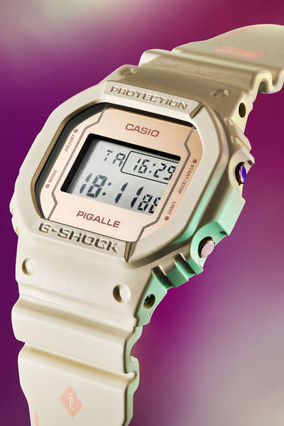 Pigalle Casio G SHOCK DW 5600 Watch Collaboration Black Beige Off White 2017 November 1 Release Date Info