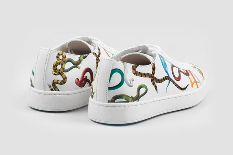 Santoni Toilet Paper Magazine Clean Leather Sneakers