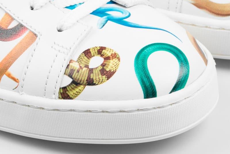Santoni Toilet Paper Magazine Clean Leather Sneakers