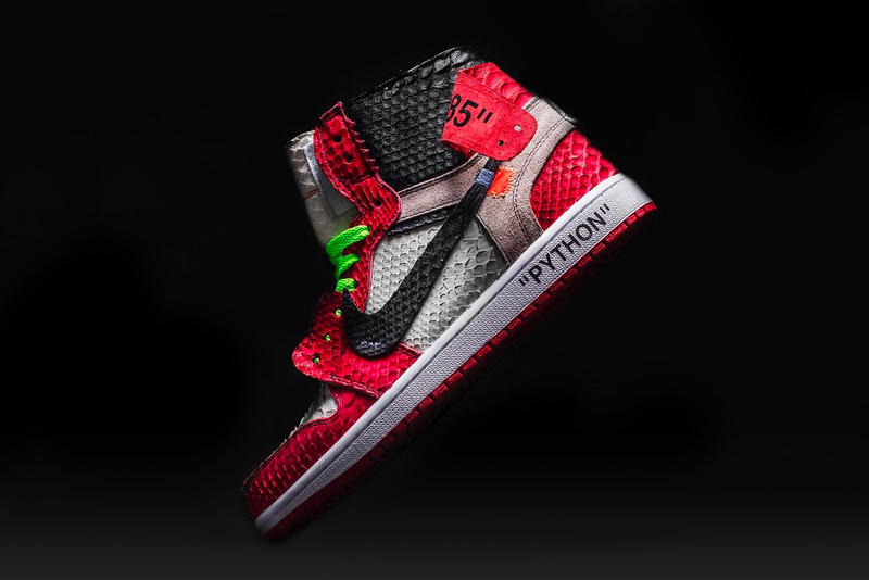 "3344719bbd8 The Shoe Surgeon Designs His Own Custom Virgil Abloh x Air Jordan 1.  Acknowledging the Off-White™ frontman on his recent ""Shoe of the Year""  award."