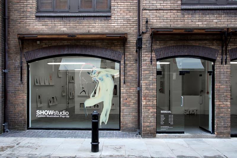 SHOWstudio London Fashion Illustration Pop-Up Nick Knight