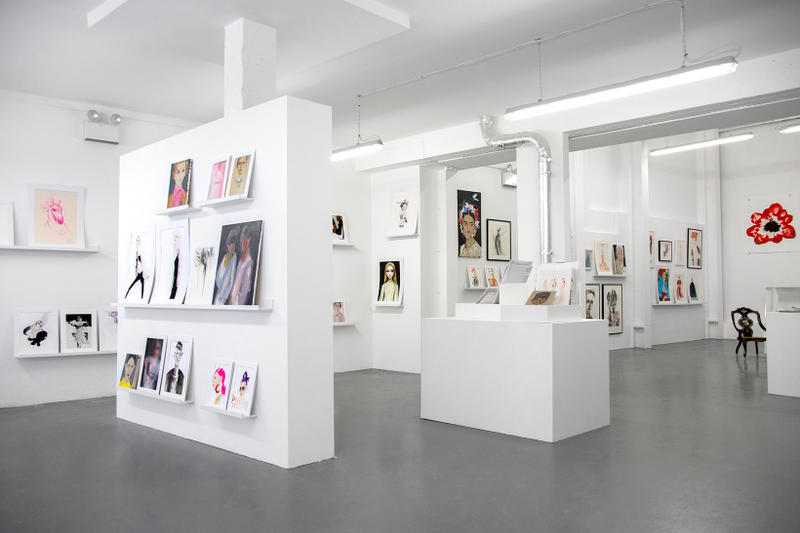 SHOWstudio London Fashion Illustration Pop-Up Nick Knight