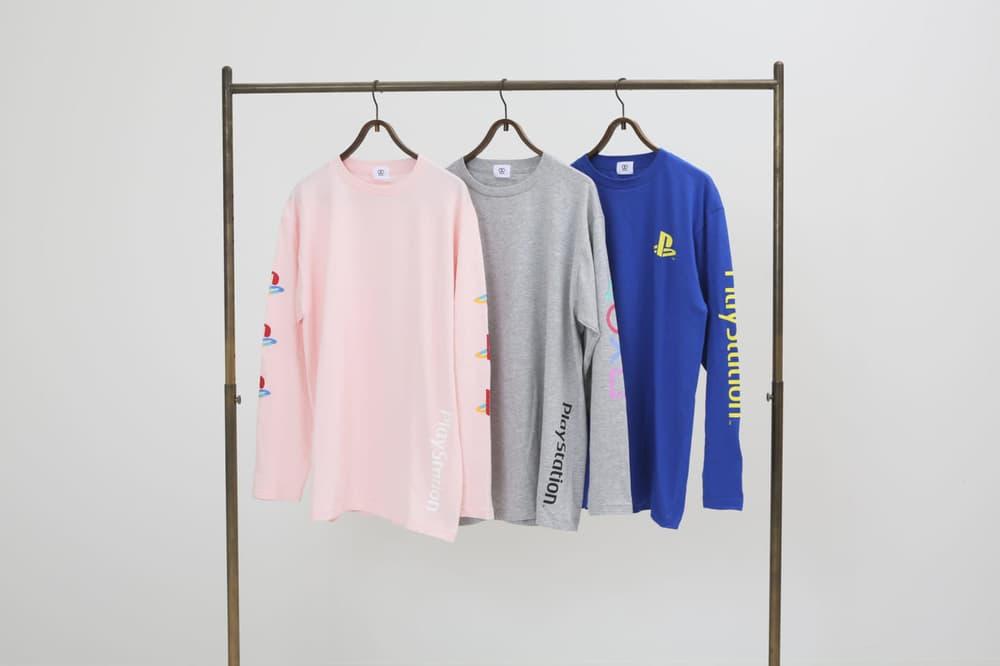 Sony PlayStation PULP 417 EDIFICE Long Sleeve T Shirts Grey Pink Blue