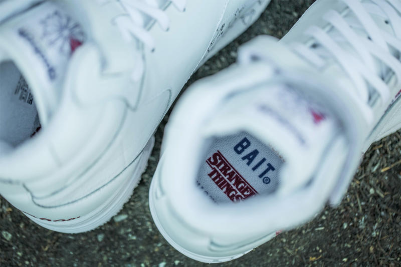 1b286c534 Stranger Things BAIT Reebok Collaboration Teaser Preview First Look Hi Top  Sneaker White