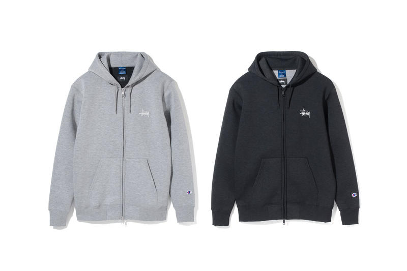 Stüssy stussy Champion Second Drop Wrap-Air Zip Hoodie Pant Fall 2017 Collection sweatpants grey gray black
