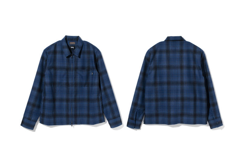 Stussy Pendleton Fall Winter 2017 Wool Zip Jackets Check Plaid Navy Black off White October 13 Release Date Info Collaboration