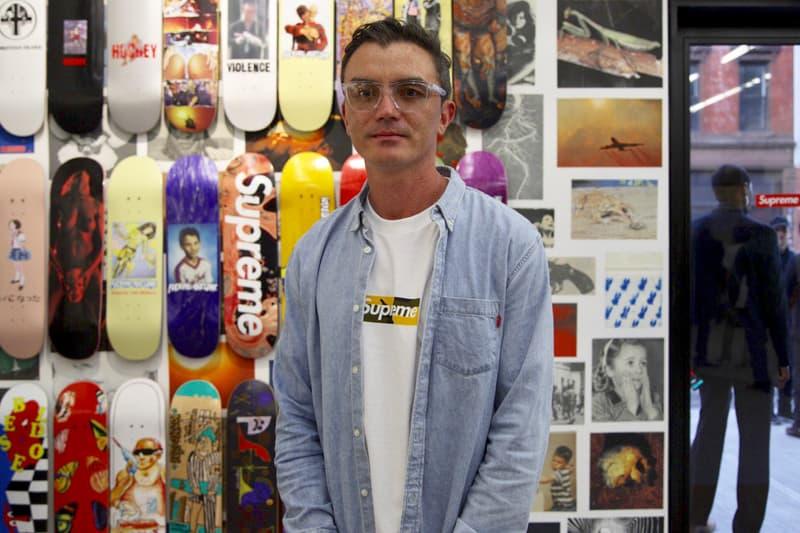 Supreme Brooklyn Box Logo T-Shirt Tee Yellow Camo Jeff Pang Manager 2