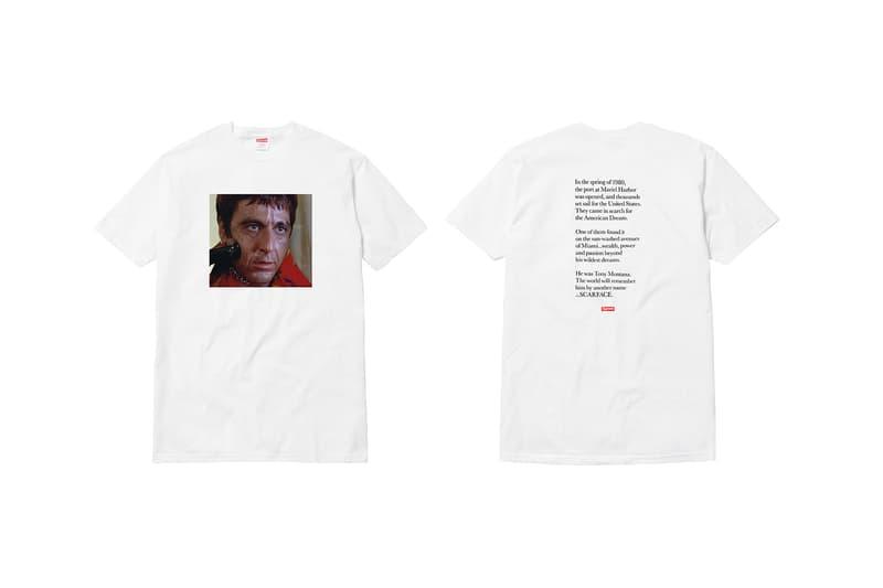 Supreme Scarface White T-Shirt Gun Al Pacino