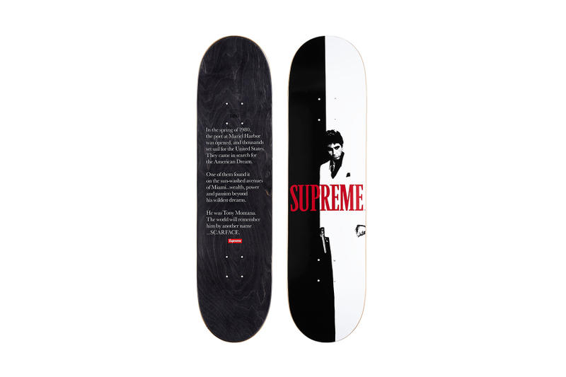Supreme Scarface Black Red Movie Poster Skate Deck