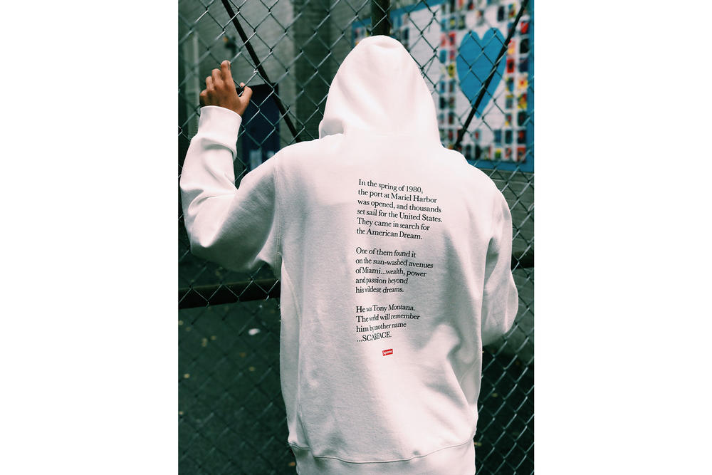 Nakel Smith Supreme Scarface White Hoodie