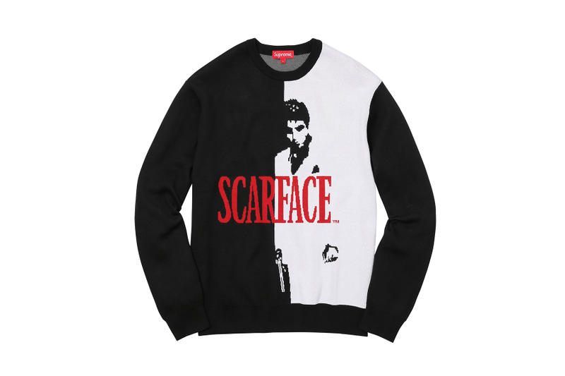 Supreme Scarface Black Red Sweater