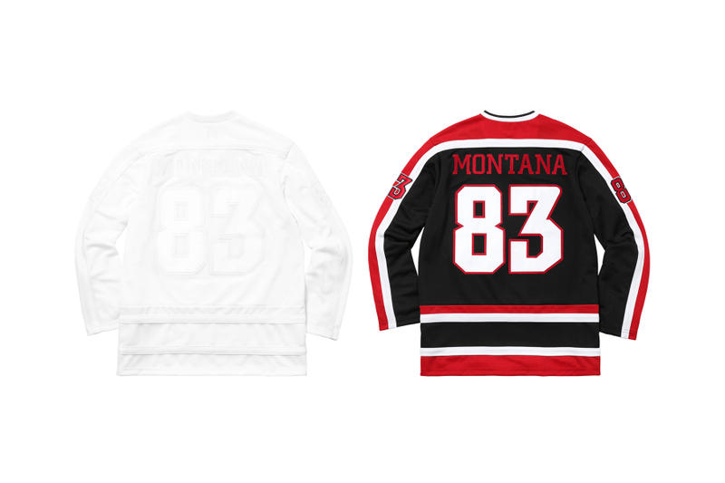 Supreme Scarface White Black Red Hockey Jersey Back