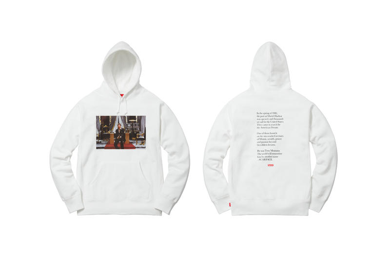 Supreme Scarface White Hoodie Say Hello to My Little Friend