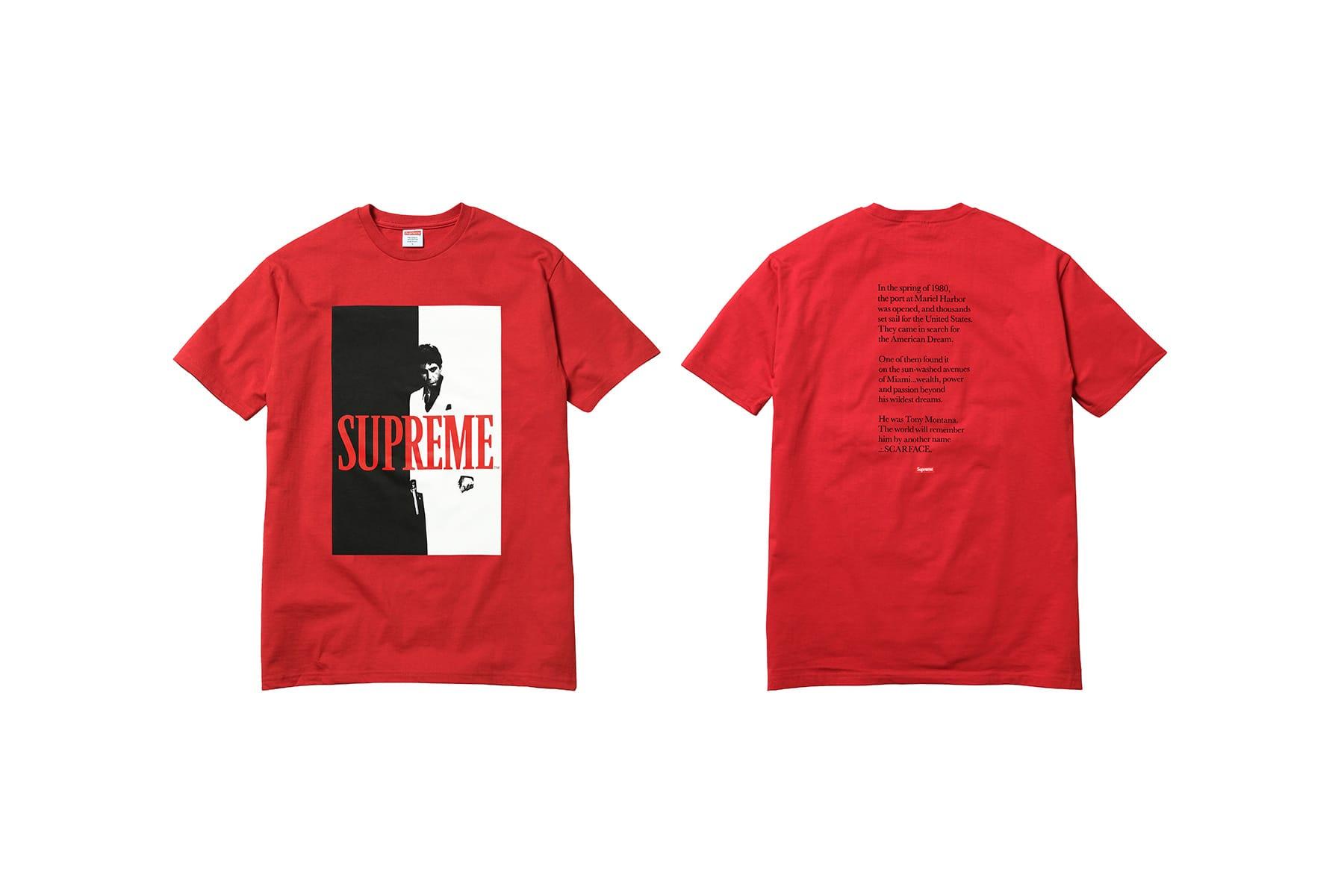 scarface t shirt supreme