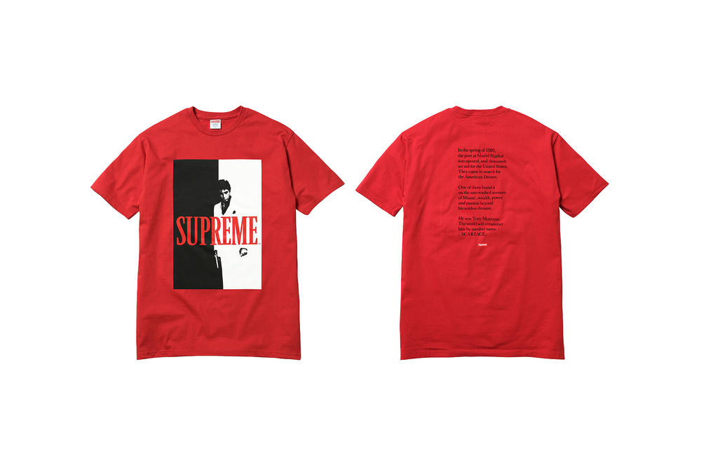 Supreme Scarface Red T-Shirt Movie Poster Print
