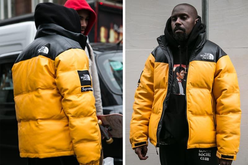 Supreme The North Face London Fall Winter 2017 Streetsnaps Street Style nuptse