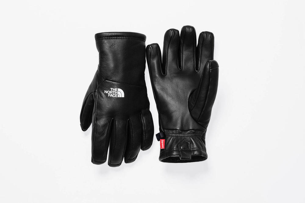 Supreme x The North Face 2017 Fall Black Gloves
