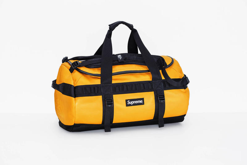 Supreme x The North Face 2017 Fall Yellow Duffel