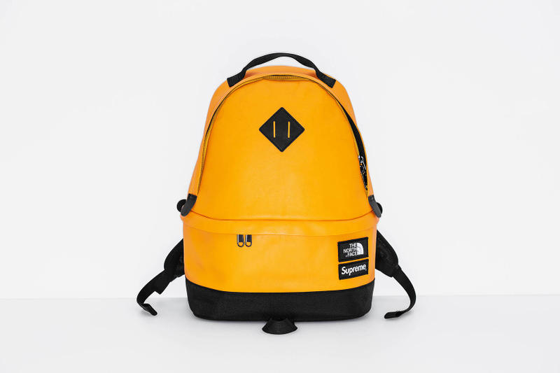 Supreme x The North Face 2017 Fall Yellow Backpack