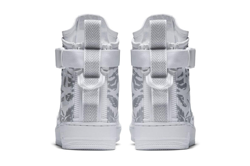 Nike SF-AF1 Mid Winter Camo Colorway White Black