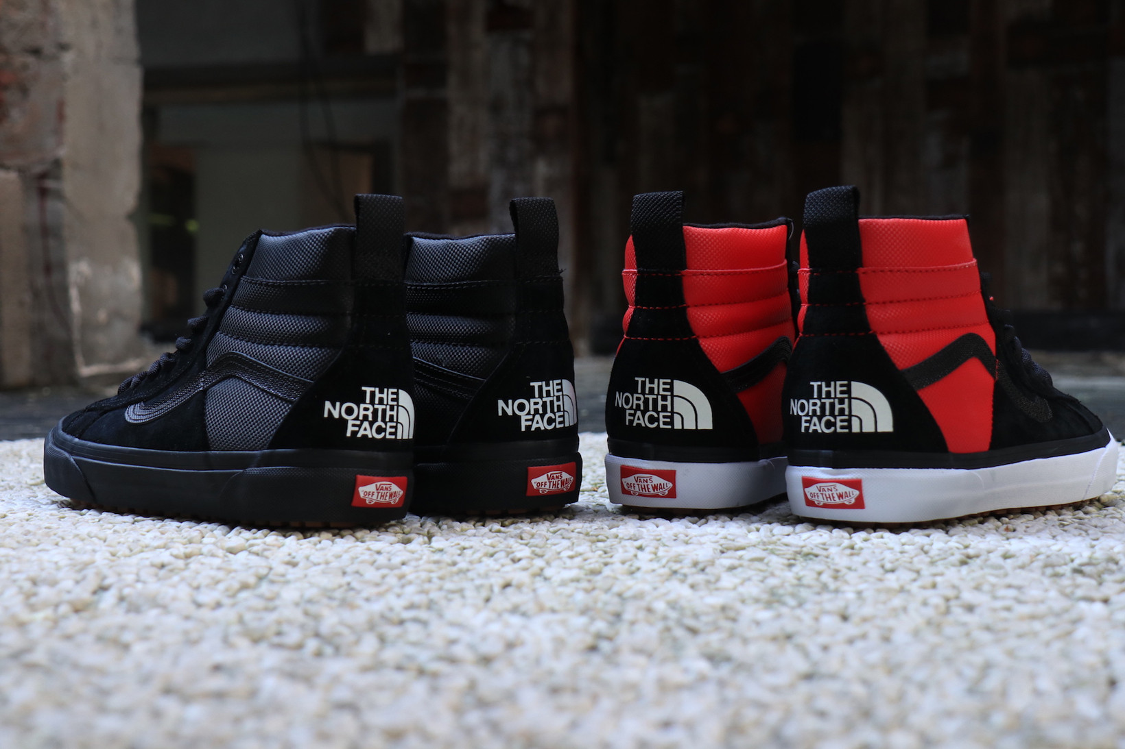 vans collab with north face