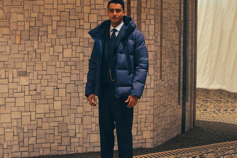 UNITED ARROWS & SONS DESCENTE ALLTERRAIN collaboration 2017 Fall Winter Puffer Down Jacket MOUNTAINEER navy glen plaid