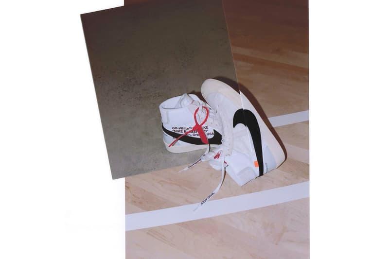 Virgil Abloh Nike The Ten Collection Jordan Brand Raffle Raffles Locations Release Info Dates Drops Footwear Sneakers Shoes Air Jordan 1 Blazer Air Max 90 97 VaporMax Hyperdunk 2017 Zoomfly Presto Air Force 1