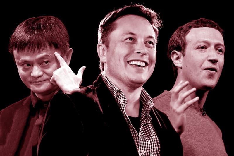 Jack Ma Elon Musk Mark Zukerberg