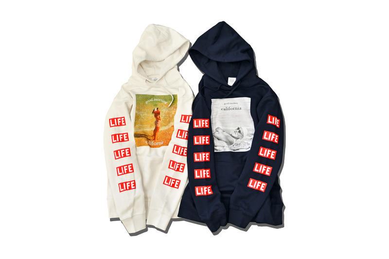 YouthFUL SURF LIFE Magazine Collaboration Hoodie Sweatshirt T Shirt Tee Beige Off White Blue Navy Black