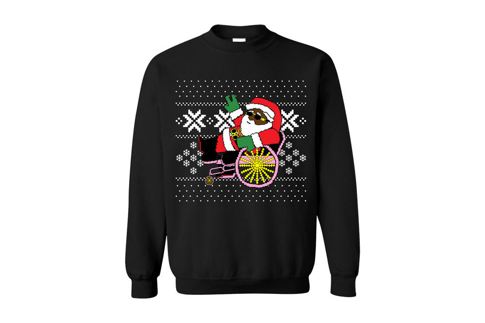 2 Chainz Ugly Christmas Sweater Trappin Santa