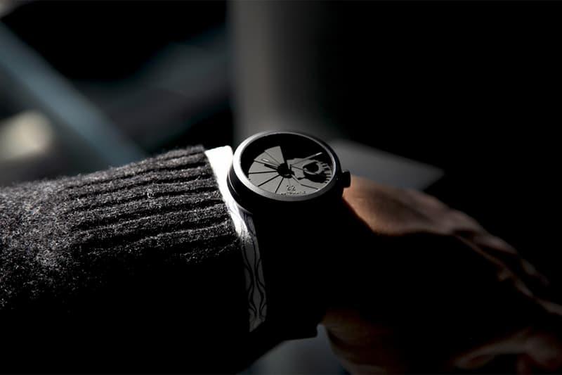 22 Design Studio 4D Concrete Automatic Watch on wrist