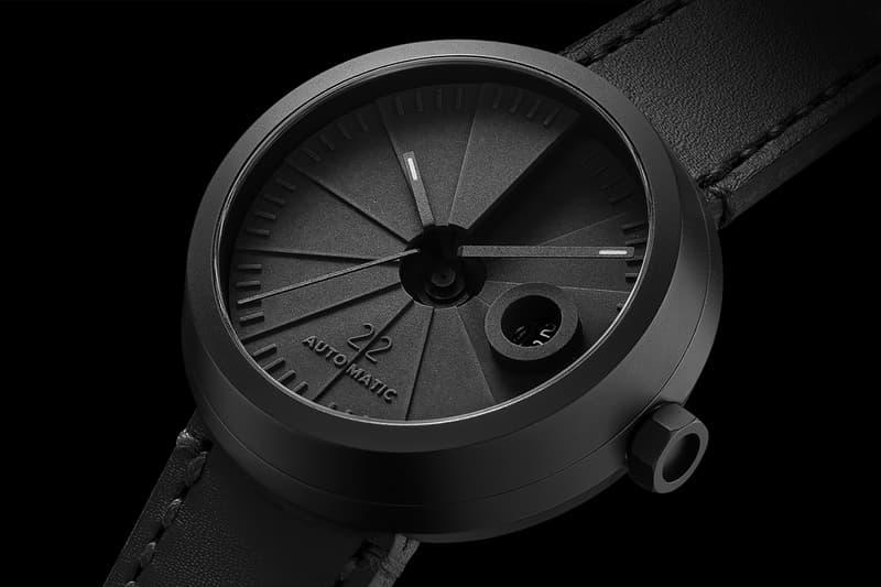 22 Design Studio 4D Concrete Automatic Watch close up