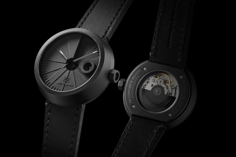 22 Design Studio 4D Concrete Automatic Watch side angle
