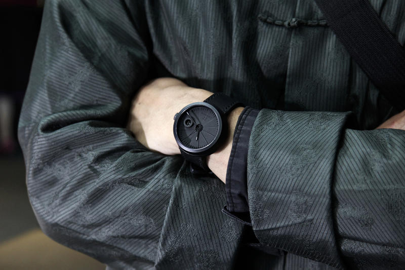 22 Design Studio 4D Concrete Automatic Watch arms folded