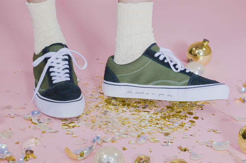 Ace Hotel Vans Old Skool 2017 November 15 Release Date Info Sneakers Shoes Footwear brushed black green suede The world is as you are