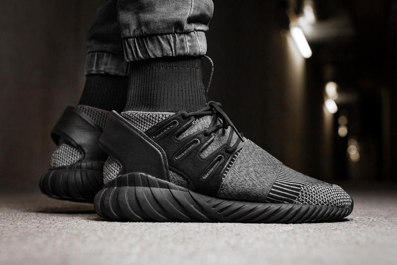 7bf3607b439e adidas originals Tubular Doom Primeknit pk Core Black sole all grey gray  white afew store sneakers