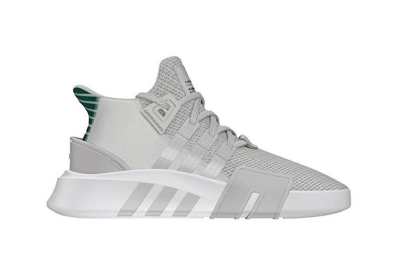 check out 4706c 82cb5 adidas Originals EQT Bask ADV Grey White Green Basketball Sneaker Release  Info Drops February 2018