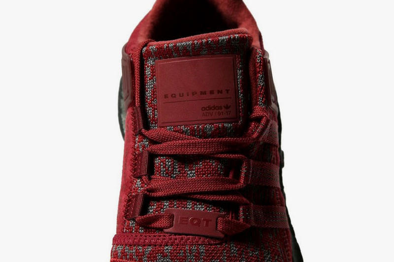 adidas EQT Support 93/17 Burgundy Red JD Sports November 2017 Release