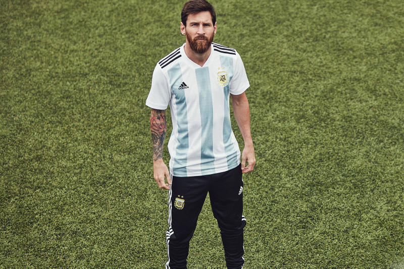 a52ac144e1a26 adidas 2018 World Cup Home Kits Russia Germany Spain Belgium Japan Colombia  Argentina Mexico lionel messi