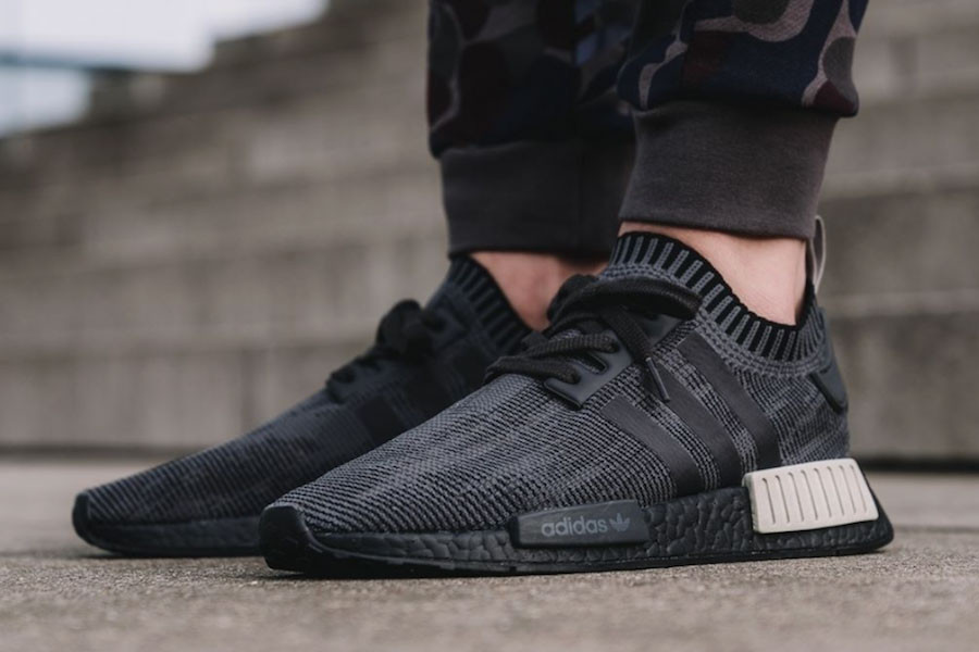 adidas NMD R1 Primeknit in Core Black and Sesame  164d301417
