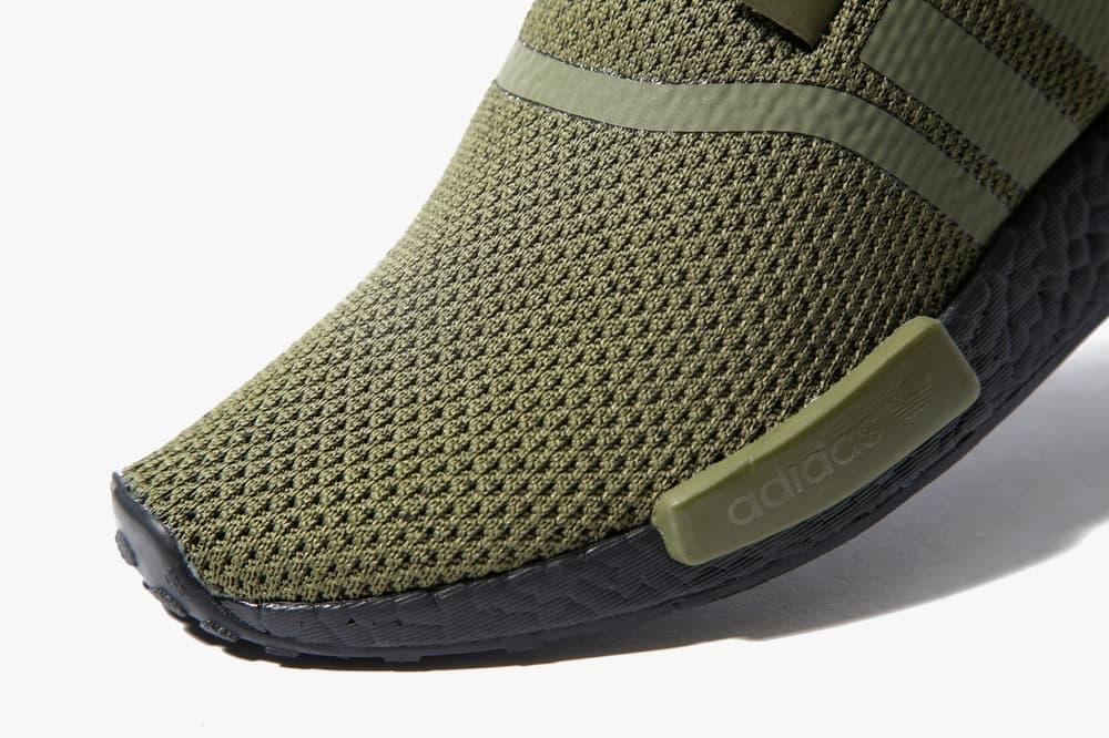 adidas NMD R1 Wool Heel Olive JD Sports Fall Winter 2017