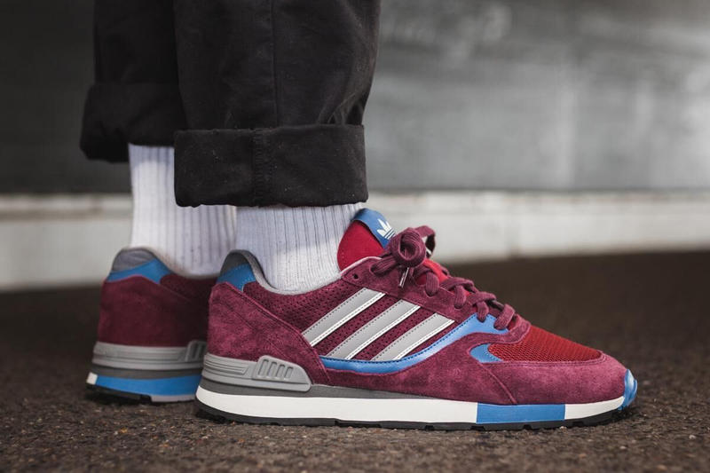 adidas Originals Quesence Maroon Trace Blue Core Black 2017 December 15 Release Date Info Afew Sneakers Shoes Footwear