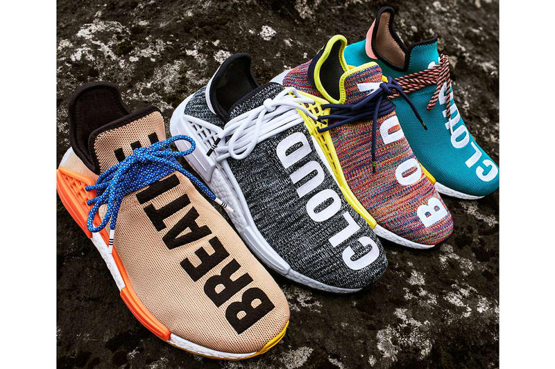 Pharrell Williams adidas Originals Statement Hiking Hu NMD Trail Footwear Outerwear Apparel Fashion Clothing Hiking Outdoors Nature