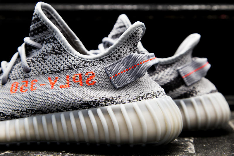 35e8d40aed2695 adidas Originals YEEZY BOOST 350 V2 Beluga 2 0 Grey Bold Orange DGH Solid  Grey Sneakers