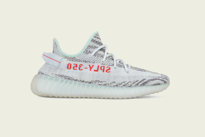 adidas Originals YEEZY BOOST 350 V2 Blue Tint Grey Three High Res Red Kanye West Sneakers Release Date Info Drops December 16 2017