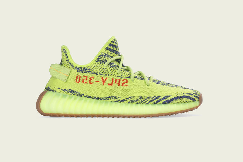 247924dca adidas Originals YEEZY BOOST 350 V2 Semi Frozen Yellow Raw Steel Red  Release Date Info Drops