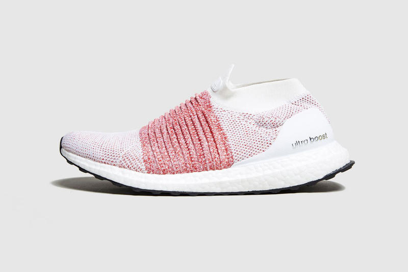 Adidas Ultraboost Laceless In White Red Hypebeast