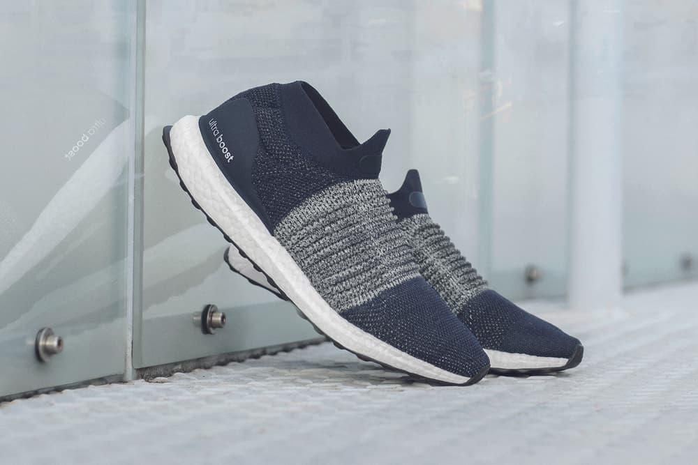 adidas UltraBOOST Laceless Nude Blue Navy 2017 November 29 December 6 Release Date Info Sneakers Shoes Footwear