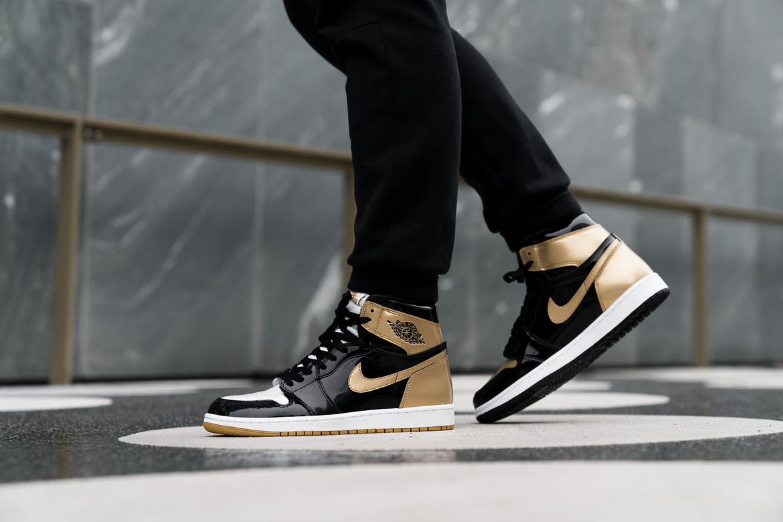 brand new 73c62 7f034 Air Jordan 1 Top 3 Black/Gold On-Feet Shots | HYPEBEAST