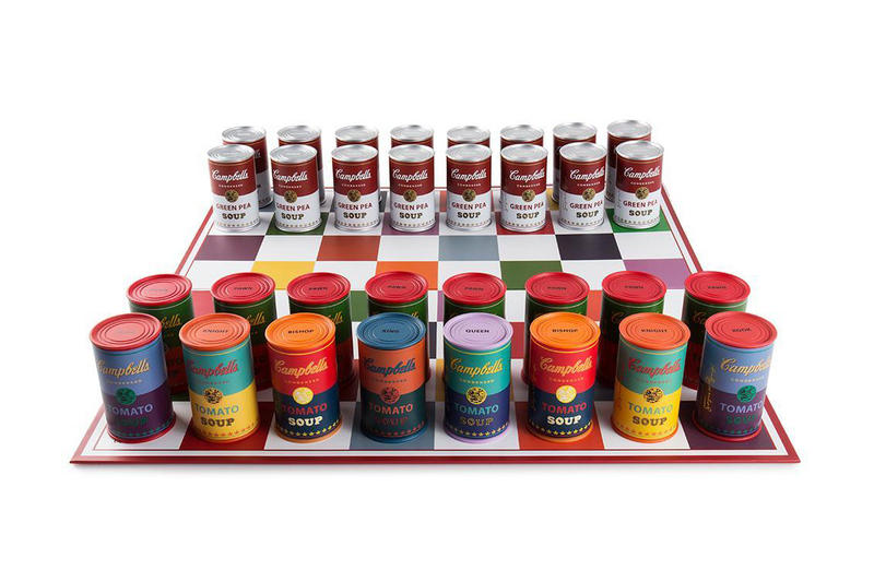 Andy Warhol Campbells Soup Kidrobot Chess Set Art Accessories Games